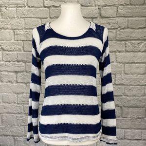 Splendid Navy & White Striped Lightweight Sweater